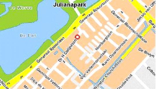 Plattegrond locatie Rijswijk