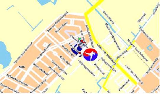 Plattegrond locatie Ypenburg